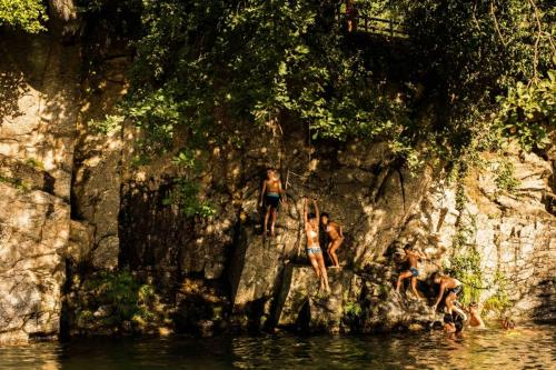 Baño en Piscina natural en Jarandilla de la Vera