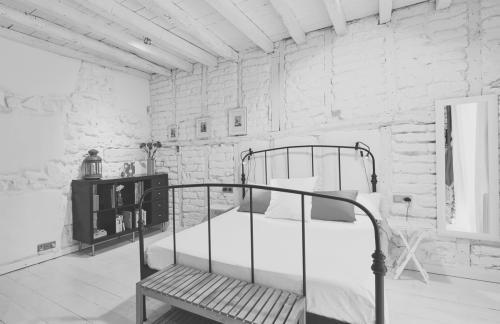 Habitación Juglar o nº 1 en blanco y negro